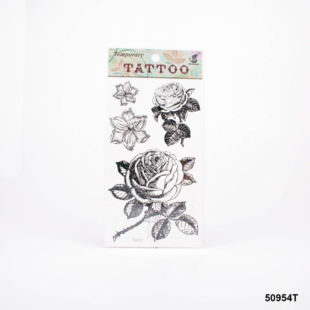 Tatuajes con hermosos grandes rosas y lirios de flores: Amazon.es ...