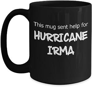 Help for Hurricane Irma Black 15oz Mug