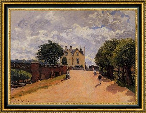 inn-at-east-molesey-with-hampton-court-bridge-by-alfred-sisley-16-x-21-framed-canvas-art-print-ready