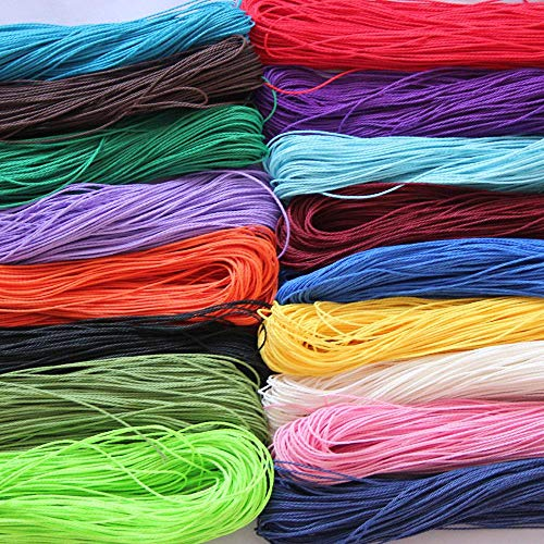ASTONISH 200 Yards Mixed Colors Braided Cotton Cord 1 mm Sampler Set Mix Colors Macrame Braid Strings by ASTONISH (Image #1)