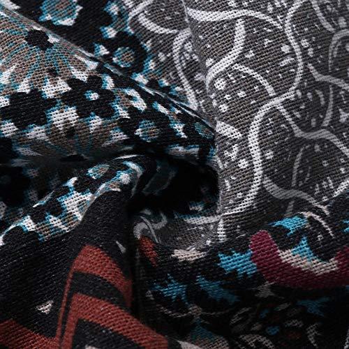 Viento Cardigan Outwear Algodón Nacional Con Casual Lino Mujer Capucha Estampado Abrigo Algodón,bbestseller Larga De Silk Manga Negro Chaqueta Y qtnHAv