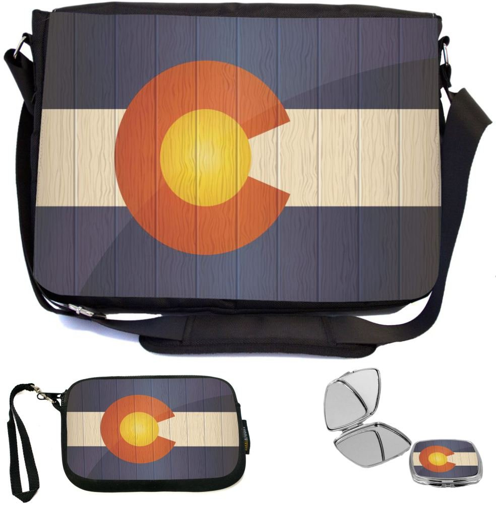 a546f746d169 Rikki Knight Colorado Flag on Distressed Wood Design COMBO ...