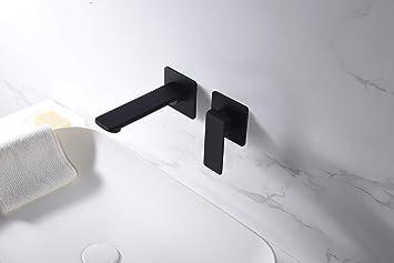 Grifo de lavabo empotrado Imex Fiyi Negro GLF016-NG