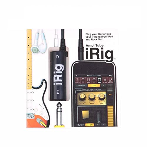 IRig Guitar Adapter Interface AmpliTube iRig guitar interface adaptor for I Pod I Pad IPhone iOS devices (Color: Black) (ios)