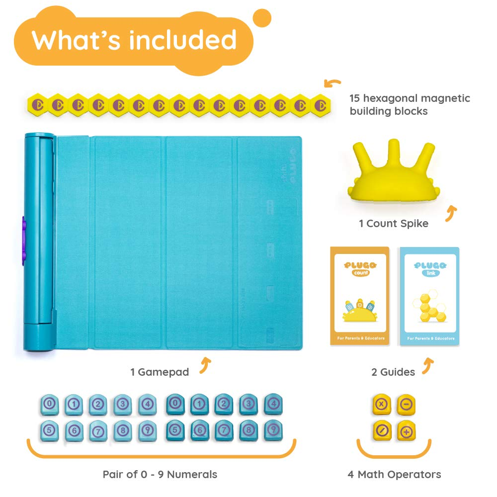 Shifu Plugo - Count & Link Combo Kit - Cool Math Games & Magnetic Building Blocks Puzzles for Kids, Educational STEM Toy for Boys & Girls Age 4 to 10 Years (iPad / iPhone Required) by Shifu (Image #6)