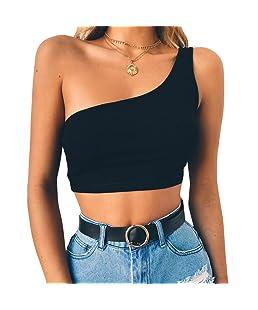 Alalaso Womens Sexy Vest, Fashion Blouse Camisole Cotton Sleeveless T-Shirt(Black,S)