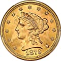 1879 P $2.50 Liberty Gold Two and a half Dollar MS66 PCGS+