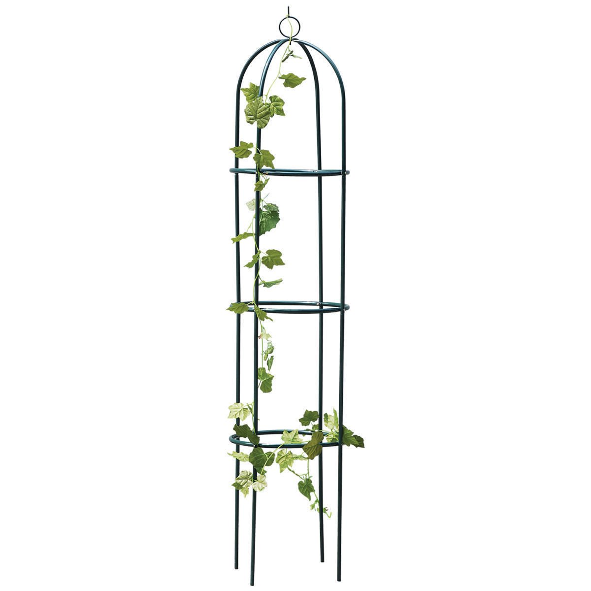 1.9M Outdoor Garden Black Metal Obelisk Climbing Plant Support Frame Ivy Trellis - A great addition for your garden this summer, perfect for climbing plants and bushes.