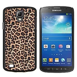 Dragon Case - FOR S4 Active I9295 (Do Not Fit S4) - leopard pattern fur brown golden - Caja protectora de pl??stico duro de la cubierta Dise?¡Ào Slim Fit
