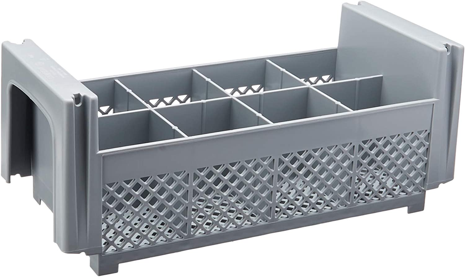 Cambro 8FBNH434151 8-Compartment Flatware Rack, Gray, 1/2 Size