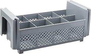 Cambro 8FBNH434151 8-Compartment Flatware Rack, Gray, 1/2 Size