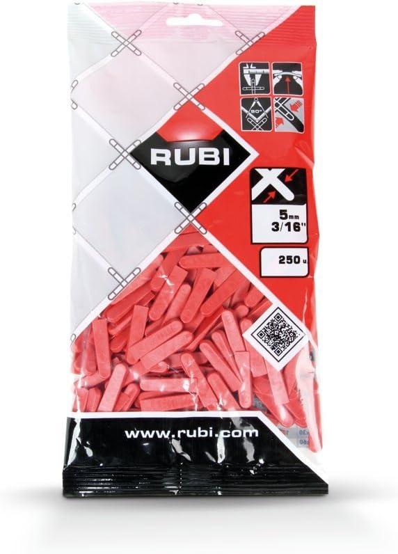 Rubi 2396 cuñas para alicatado, Gris, 5 mm, Set de 250 Piezas