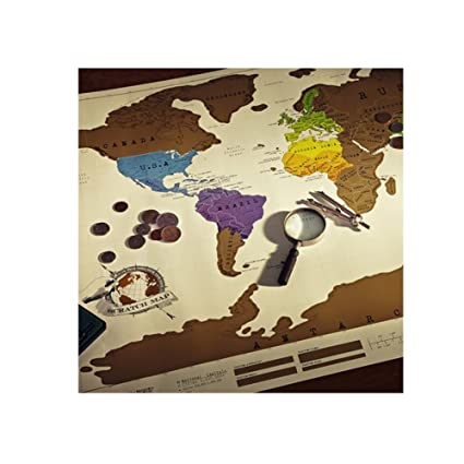 Buy Individual Scratch Off Map Travel Scratch World Map Size ...