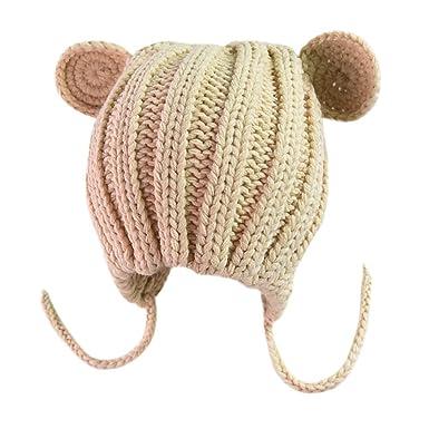 ODJOY-FAN-bambino Orecchie di gatto Manuale Berretto lana Cappello lavorato  a maglia- df04b0d53eaa