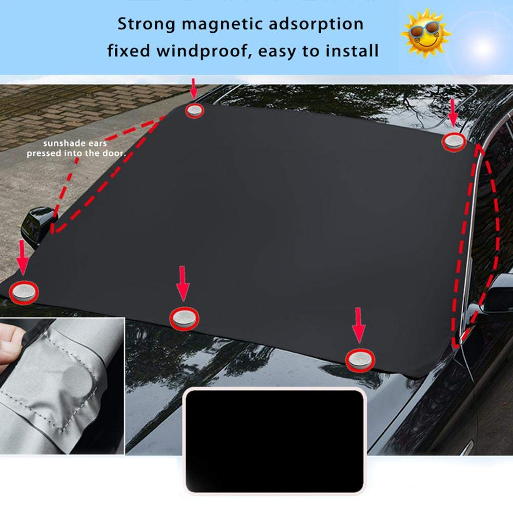 IrahdBowen Car Sunshade Front Windscreen Cover Folding Aluminum Foil Insulation Sun Block Magnet Sun Block Car Glass Sunshade Car Sun Visor