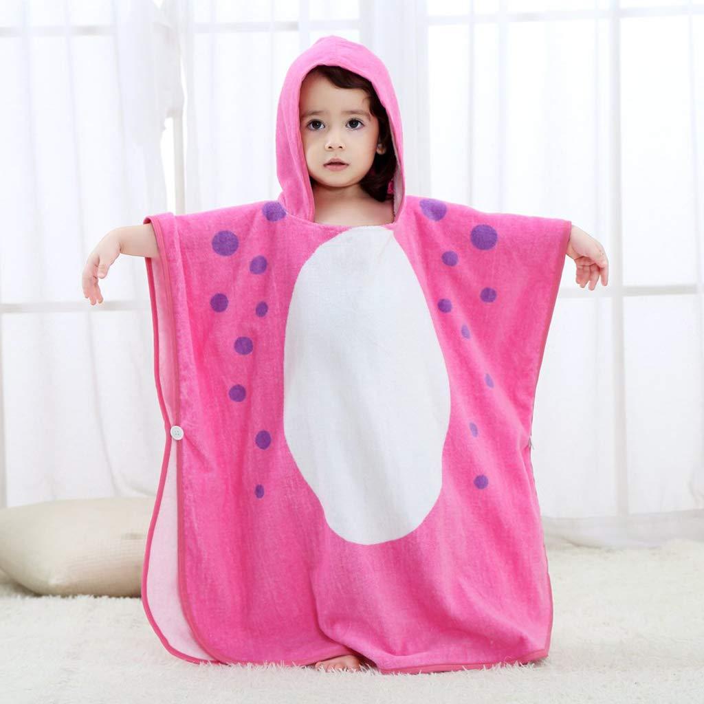 Baby Jungen M/ädchen 100/% Baumwolle Badetuch Bademante Hautfreundlich Grau Blau Rosa Gr/ün Kinder Kapuzen Poncho Bade Strandtuch