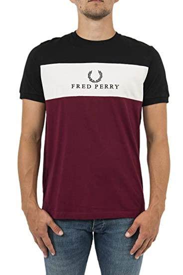 98bab647dacd Fred Perry Embroidered Panel T-Shirt