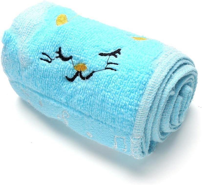 GoodKE Fashion 1 Piece Embroidery Animal Pattern Soft Towel for Kids Children