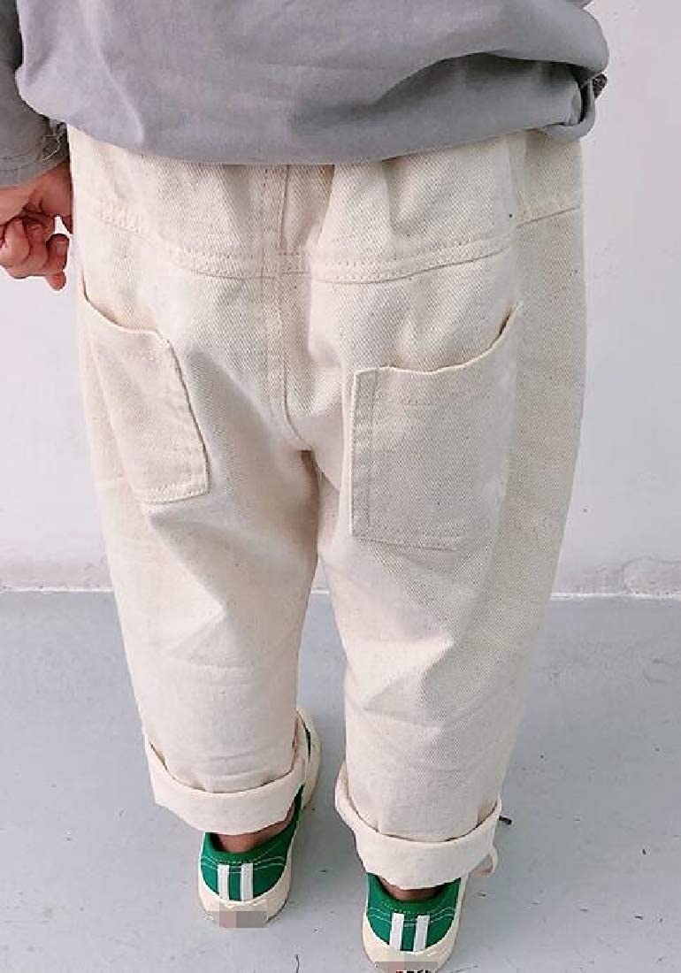 Pandapang Girl Pure Color Casual Pull On Waist Harem Pants Trousers