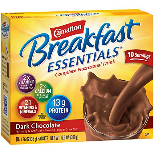 Carnation Breakfast Essentials Powder Drink Mix, Dark Chocolate, 10 Count Box of 1.26 oz Packets, 6 Pack by Carnation Breakfast Essentials (Image #5)