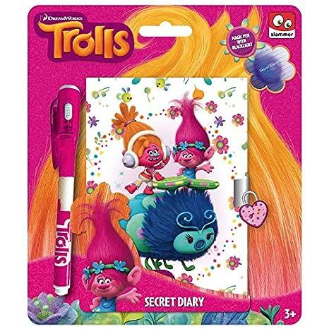Taldec–TRF–Cuaderno secreto y bolígrafo de tinta UV de Trolls