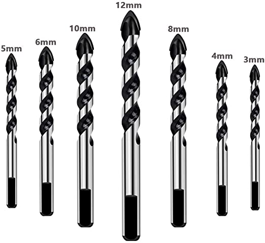 6 mm SDS Plus Marteau Twist Drill Bits pour pierre Béton Maçonnerie Granit Céramique