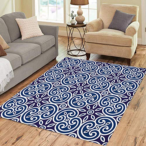 (Pinbeam Area Rug Brown Royal Geometric of Italian Pattern Modular Abstract Home Decor Floor Rug 3' x 5' Carpet )