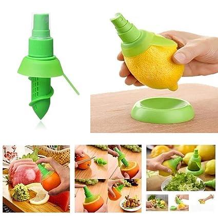 TrAdE shop Traesio® Exprimidor de Limón Spray Juego de vajilla 3 piezas, dos prensador