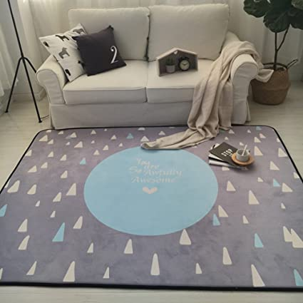 Amazon.com: Play Mat for Baby Grey Area Rug Foam Play Mat Living ...