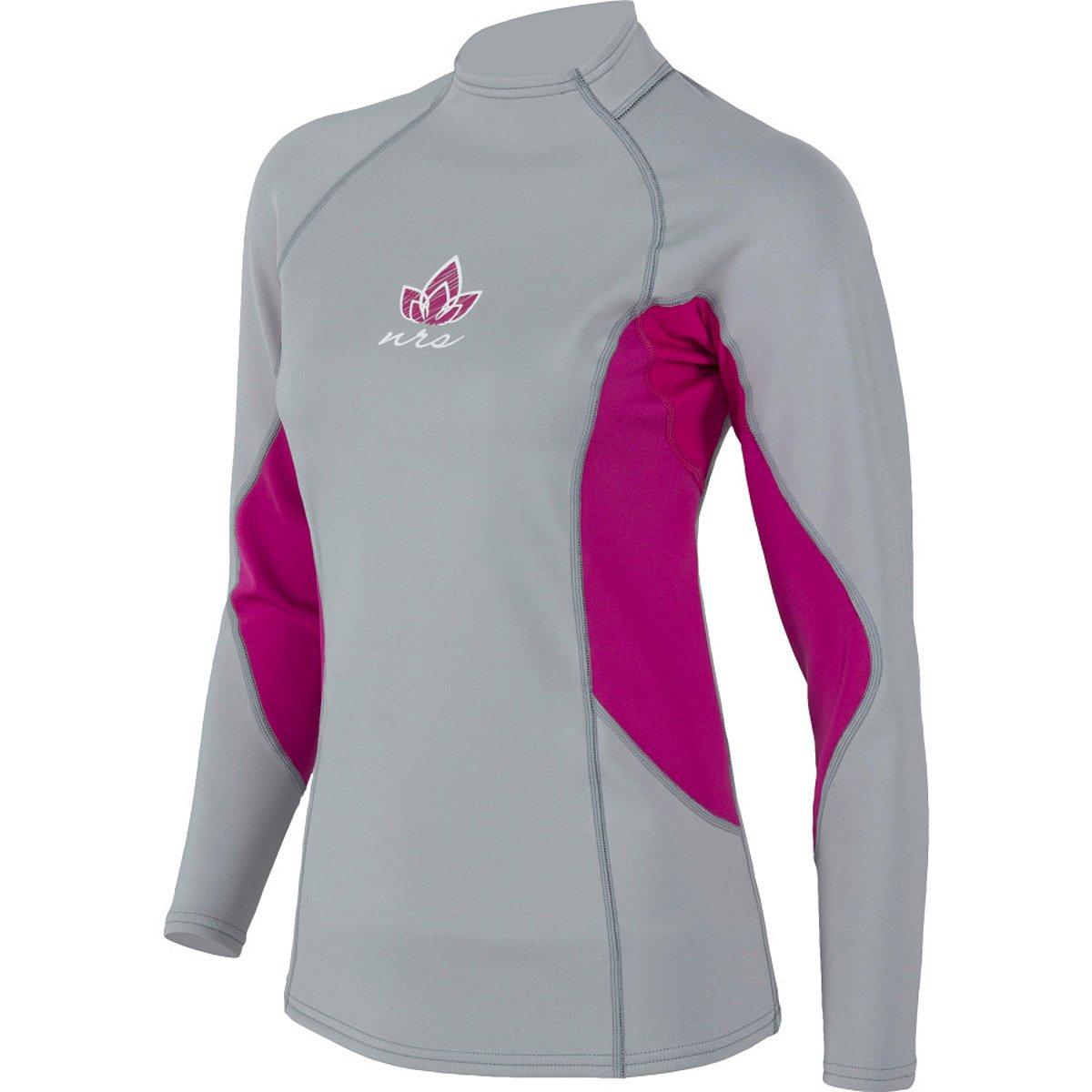 NRS HydroSkin 0.5 LS Shirt - Women's Grey / Purple Haze XS by NRS