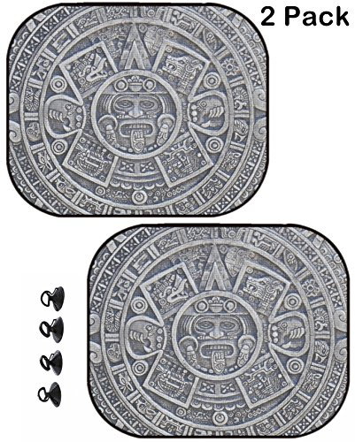 (MSD Car Sun Shade Protector Side Window Block Damaging UV Rays Sunlight Heat for All Vehicles, 2 Pack Image ID 34606955 Aztec History Texture as Nice Stone Background)