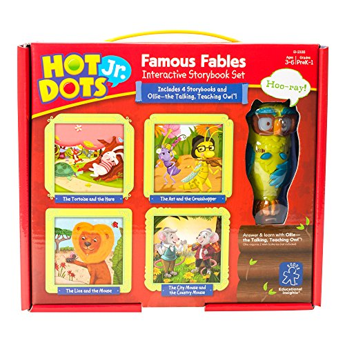 Interactive Reading Kindergarten - Educational Insights Hot Dots Jr. Famous Fables Interactive Storybook Set with Ollie Pen