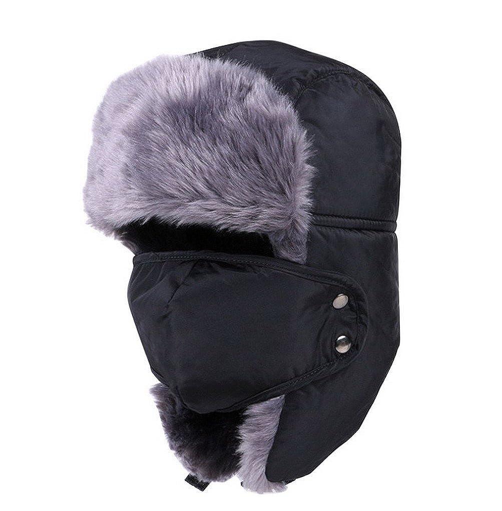 Uomo Colbacco invernale Trooper Cappello paraorecchie russa Bomber caccia cappello