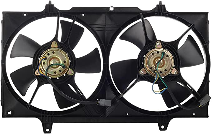 DUAL COOLING FAN ASSEMBLY NI3115105 Fit 1998-2001 NISSAN ALTIMA 2.4L