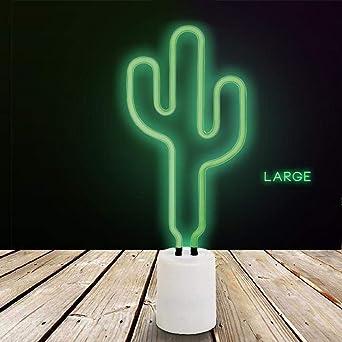 Lampe Neon Cactus Sur Pied 45cm Sunny Life Amazon Fr Luminaires