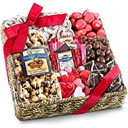 Golden State Fruit Valentines Chocolate Sweets and Treats Gift Basket