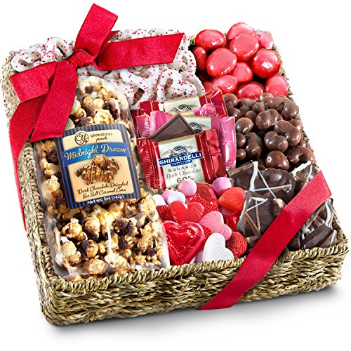 Golden State Fruit Valentines Chocolate, Sweets and Treats Gift Basket