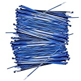 Heavy Duty Cable Zip Ties - 10 Inch - Heat resistant - Fire and UV Resistant - 50 pound Tensile - Strength Ultra Strong Plastic Wire Ties - 200 Pieces - Blue