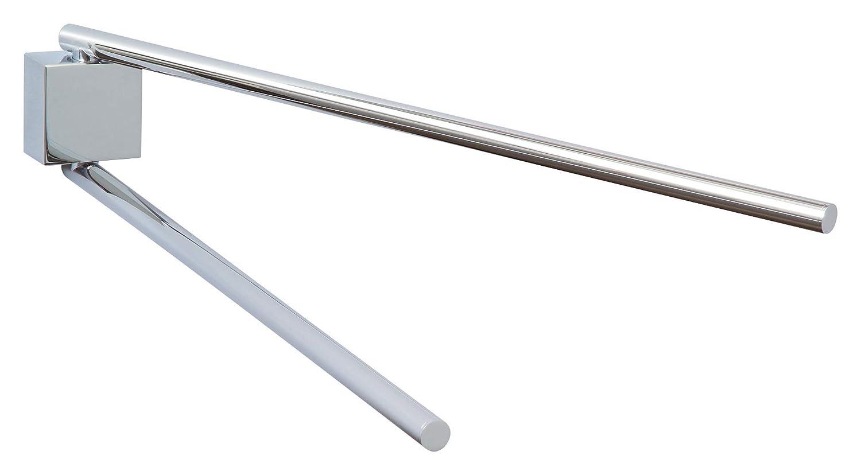 Tesa ekkro Handtuchhalter (hochglanzverchromt, inkl. Klebelösung, hohe Haltekraft (bis 6kg), 80mm x 50mm x 420mm)