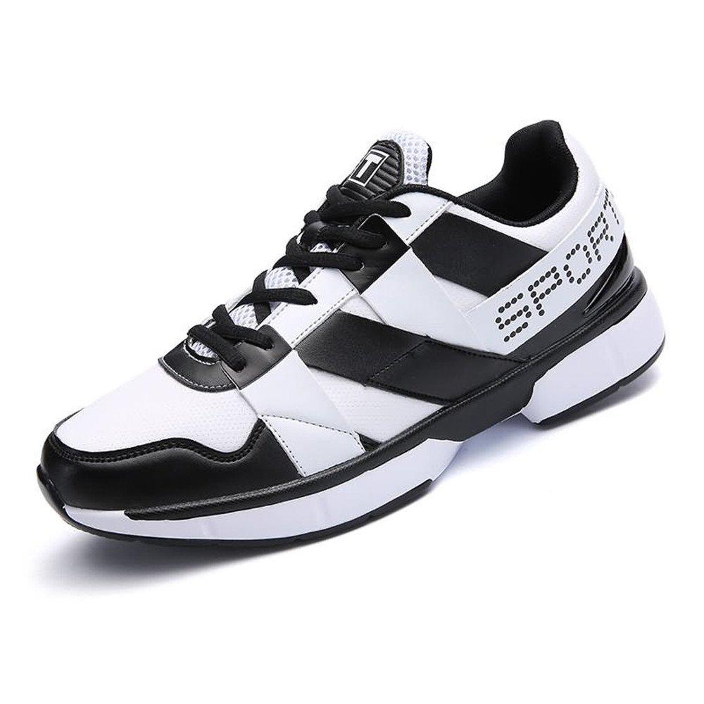 Shufang-schuhe, 2018 Laufende Turnschuh-Flache Ferse der Männer Männer Männer schnüren Sich Oben Freizeit-athletische Schuhe (Farbe   Schwarz-Weiss, Größe   43 EU) 2643b1