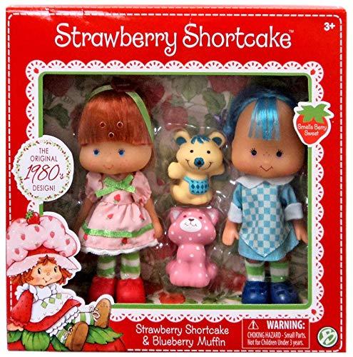The Bridge Direct Strawberry Shortcake & Blueberry Muffin Doll - Vintage Shortcake Strawberry