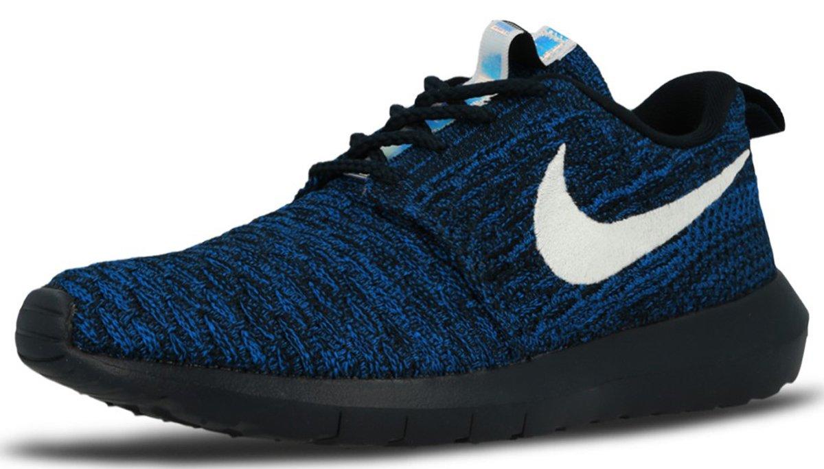 buy online 4cae4 9636a Galleon - NIKE Women s Roshe NM Flyknit Dark Obsidian White Racer Blue  Running Shoe 7 Women US