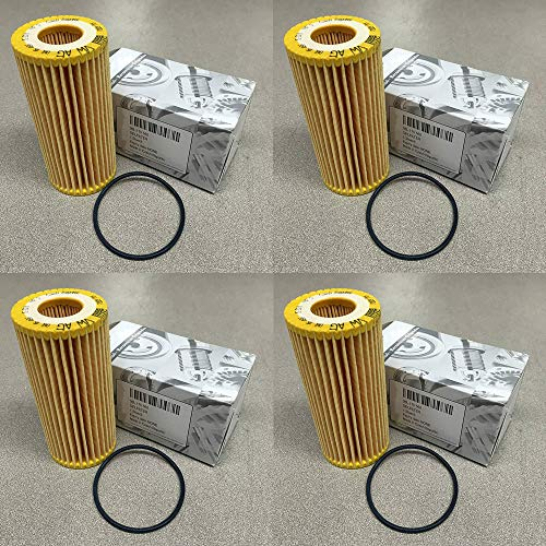 4 Pack 06L-115-562 06K 115 562 HU6002z Engine Oil Filter Fit for VW Passat Audi A3 Cabriolet Golf R Beetle 1.8T VW Golf 1.8 TSI 2016 VW GTI 2014 1.8T TSI Jetta