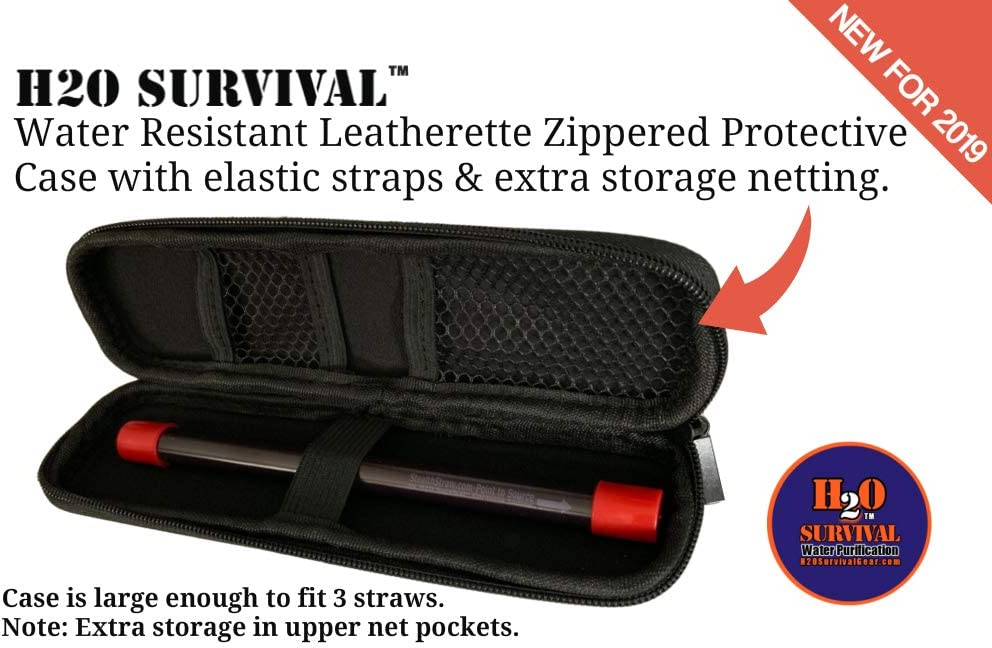 H2O Survival Water Filter Travel Straw