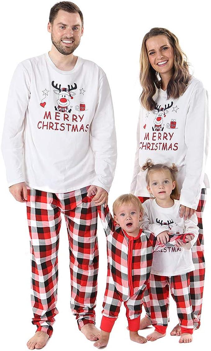 UK Boys Girls Kids Christmas Pyjamas Nightwear 2 pcs Set Christmas Gift