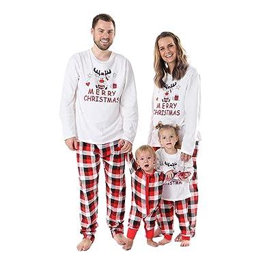 1874ced85a Gyratedream Pyjamas Women Men Kids Baby Christmas Family Matching Pajama  Sets Classic Red Plaid Homewear Parents