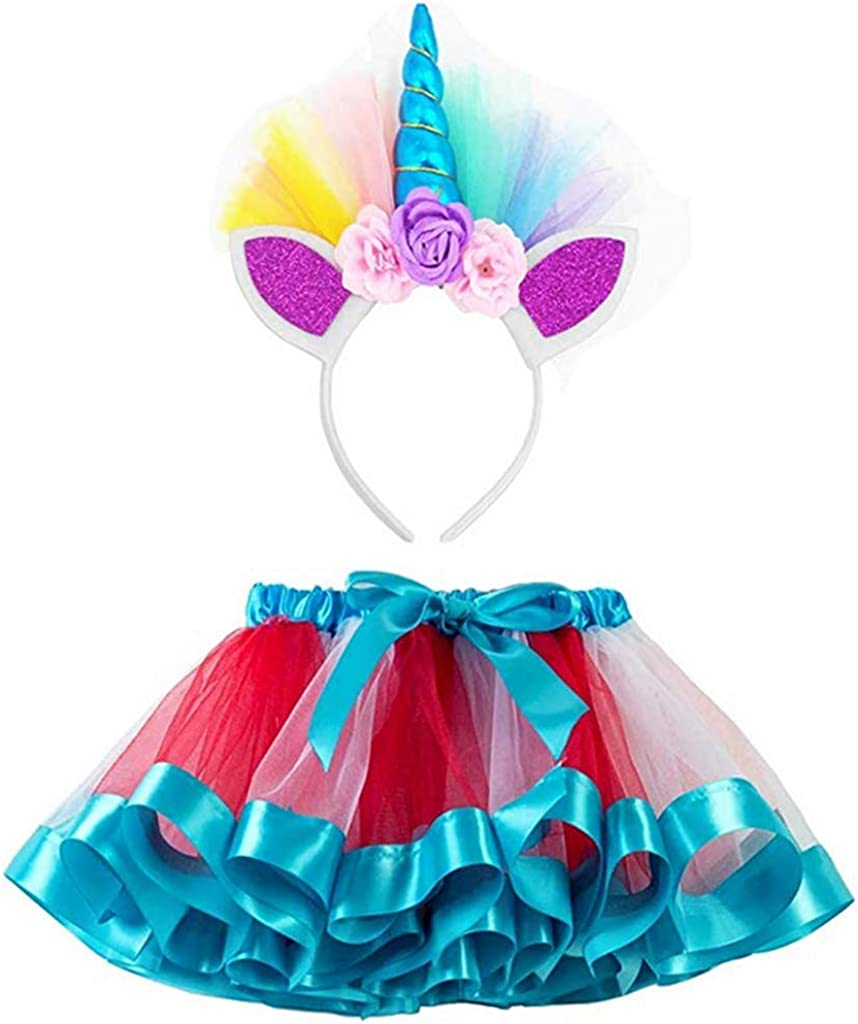 Z-YQL - Faldas tutú con diseño de Unicornio para niñas Azul Azul ...