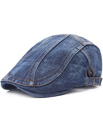 Leisial Sombrero de Boina Vaquera Gorra con Visera Casquillo Vintage  Sencilla Ocio al Aire Libre Sombrero 59d53c8989ac