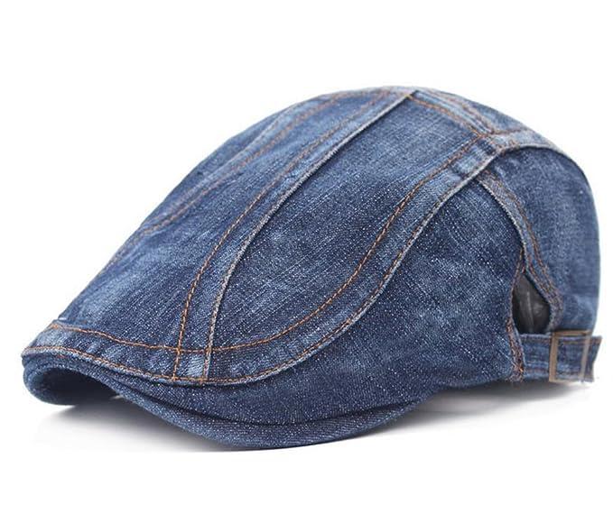 Leisial Sombrero de Boina Vaquera Gorra con Visera Casquillo Vintage  Sencilla Ocio al Aire Libre Sombrero fdec831b6c2