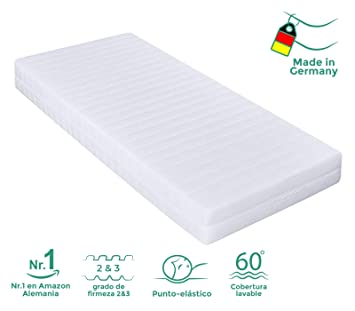 Colchón de Espuma con 7 Zonas, firmeza del colchón Grado 2 & 3 (Reversible